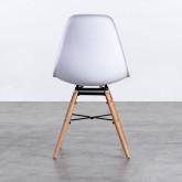 Esszimmerstuhl aus Polypropylen und Holz Belli, Miniaturansicht 4