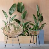 Outdoor Stuhl aus Polyethylen und Stahl Copacabana Twist, Miniaturansicht 2