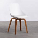Esszimmerstuhl aus Polypropylen und Holz Stile, Miniaturansicht 1
