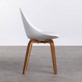 Esszimmerstuhl aus Polypropylen und Holz Stile, Miniaturansicht 2
