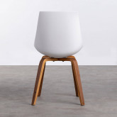 Esszimmerstuhl aus Polypropylen und Holz Stile, Miniaturansicht 3