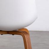 Esszimmerstuhl aus Polypropylen und Holz Stile, Miniaturansicht 4