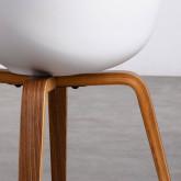 Esszimmerstuhl aus Polypropylen und Holz Stile, Miniaturansicht 5