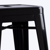 Hoher Hocker aus Stahl Industrial (76 cm), Miniaturansicht 3