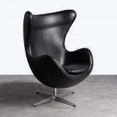 Sessel mit Armlehnen aus Kunstleder Citta, Miniaturansicht 1