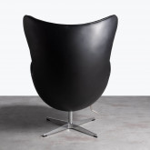 Sessel mit Armlehnen aus Kunstleder Citta, Miniaturansicht 4