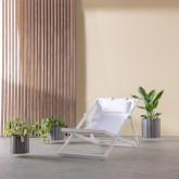 Verstellbare Liege-Hängematte aus Stoff und Aluminium Rilas, Miniaturansicht 3