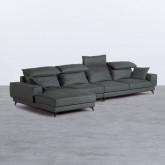 Sofa Chaiselongue links 4-Sitzer- aus Nobuck Textil Goldin, Miniaturansicht 1