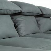 Sofa Chaiselongue links 4-Sitzer- aus Nobuck Textil Goldin, Miniaturansicht 4