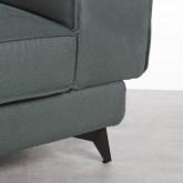 Sofa Chaiselongue links 4-Sitzer- aus Nobuck Textil Goldin, Miniaturansicht 5