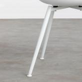 Esszimmerstuhl aus Polypropylen und Metall Lesly, Miniaturansicht 6