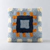 Quadratisches Kissen aus Baumwolle (50x50 cm) Mosac, Miniaturansicht 1