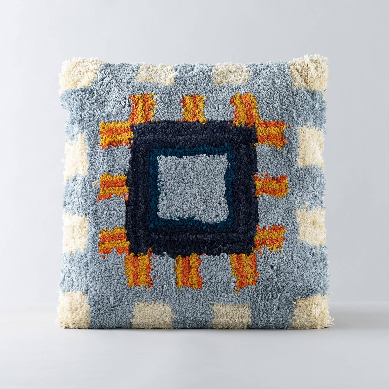 Quadratisches Kissen aus Baumwolle (50x50 cm) Mosac, Galeriebild 1