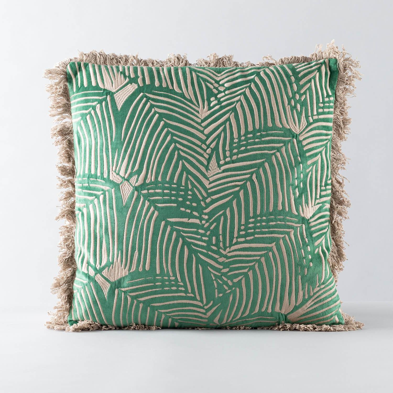 Quadratisches Kissen aus Poliester und Samt (50x50 cm) Selvo, Galeriebild 1