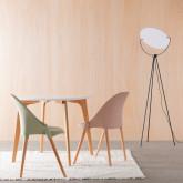 Esszimmerstuhl aus Polypropylen und Holz Odwor, Miniaturansicht 2