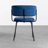 Esszimmerstuhl aus Samt und Stahl Bonse, Miniaturansicht 4
