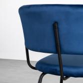Esszimmerstuhl aus Samt und Stahl Bonse, Miniaturansicht 5