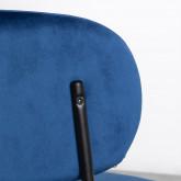 Esszimmerstuhl aus Samt und Stahl Bonse, Miniaturansicht 6