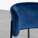 Esszimmerstuhl aus Samt und Stahl Bonse, Miniaturansicht 7