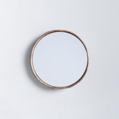 Wandspiegel Rund aus Holz (Ø40 cm) Banli