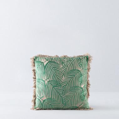 Quadratisches Kissen aus Poliester und Samt (50x50 cm) Selvo