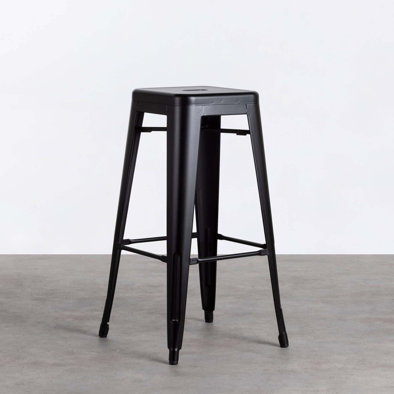 Hoher Hocker aus Stahl industrial Frosted (77 cm), Galeriebild 1