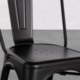 Esszimmerstuhl aus Stahl Industrial Frosted, Miniaturansicht 5