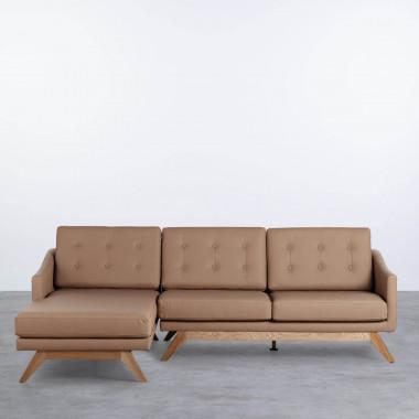 Sofa Chaiselongue Left 3-Sitzer- aus Kunstleder Abassi