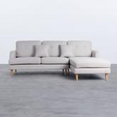 Sofa Chaiselongue rechts 3-Sitzer- aus Stoff Jhollis, Miniaturansicht 1