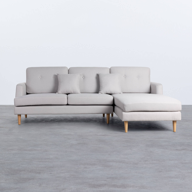 Sofa Chaiselongue rechts 3-Sitzer- aus Stoff Jhollis, Galeriebild 1