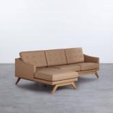Sofa Chaiselongue Left 3-Sitzer- aus Kunstleder Abassi, Miniaturansicht 1