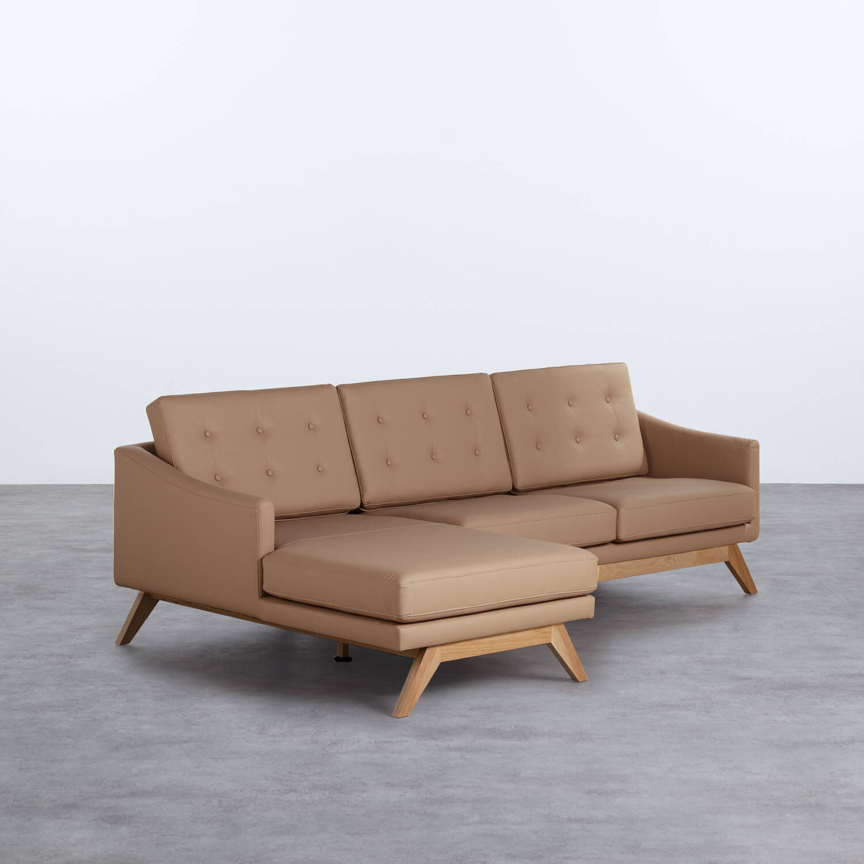 Sofa Chaiselongue Left 3-Sitzer- aus Kunstleder Abassi, Galeriebild 1