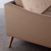 Sofa Chaiselongue Left 3-Sitzer- aus Kunstleder Abassi, Miniaturansicht 4