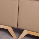Sofa Chaiselongue Left 3-Sitzer- aus Kunstleder Abassi, Miniaturansicht 6