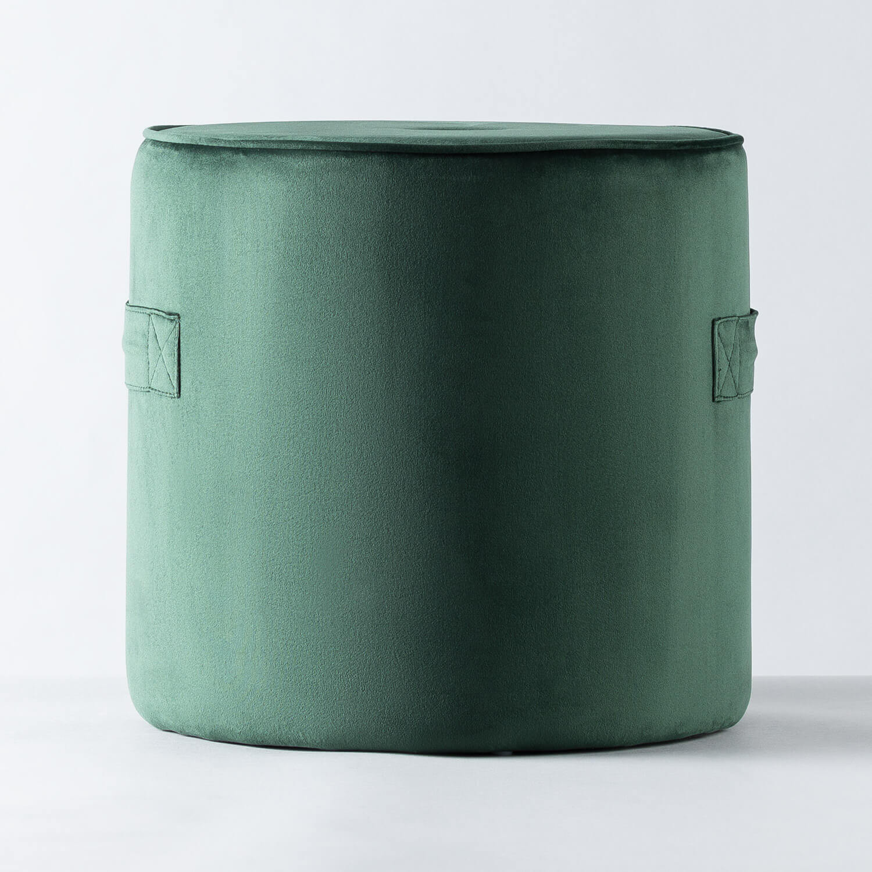 Runder Pouff aus Samt Velluto, Galeriebild 1