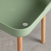 Beistelltisch aus Polypropylen und Holz (40x40 cm) Nalsi , Miniaturansicht 4
