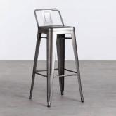 Hoher Hocker mit Rückenlehne aus Stahl Industrial Vecchio (77 cm), Miniaturansicht 1