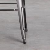 Hoher Hocker mit Rückenlehne aus Stahl Industrial Vecchio (77 cm), Miniaturansicht 4