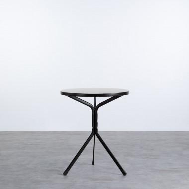 Runder Esstisch aus Metall (Ø60 cm) Enlo