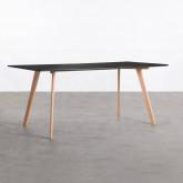 Rechteckiger Esstisch aus MDF und Holz (180x90 cm) Fery, Miniaturansicht 1