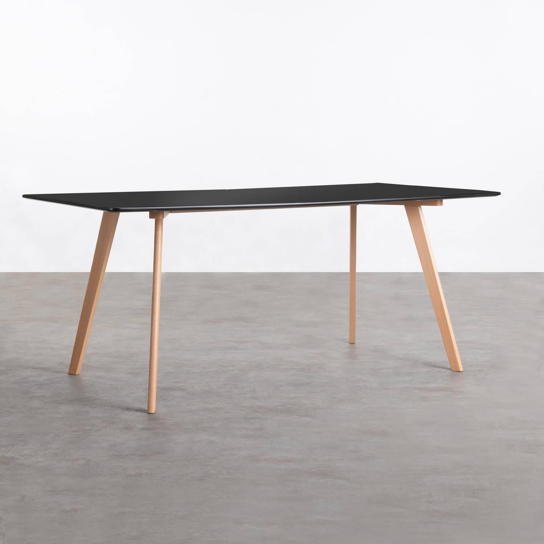 Rechteckiger Esstisch aus MDF und Holz (180x90 cm) Fery, Galeriebild 1