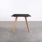 Rechteckiger Esstisch aus MDF und Holz (180x90 cm) Fery, Miniaturansicht 2