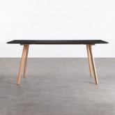 Rechteckiger Esstisch aus MDF und Holz (180x90 cm) Fery, Miniaturansicht 3