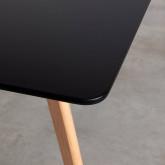 Rechteckiger Esstisch aus MDF und Holz (180x90 cm) Fery, Miniaturansicht 6