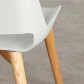 Esszimmerstuhl aus Polypropylen und Holz Ilun, Miniaturansicht 5