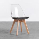 Esszimmerstuhl aus Polycarbonat und Holz Hardwood Transparent, Miniaturansicht 1