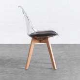 Esszimmerstuhl aus Polycarbonat und Holz Hardwood Transparent, Miniaturansicht 2