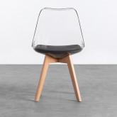 Esszimmerstuhl aus Polycarbonat und Holz Hardwood Transparent, Miniaturansicht 3