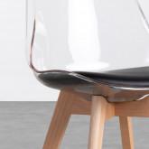 Esszimmerstuhl aus Polycarbonat und Holz Hardwood Transparent, Miniaturansicht 4