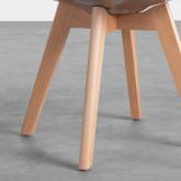Esszimmerstuhl aus Polycarbonat und Holz Hardwood Transparent, Miniaturansicht 5